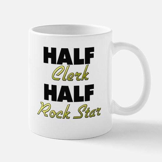 Half Clerk Half Rock Star Mugs
