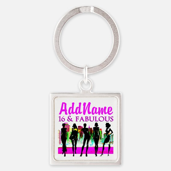 TRENDY 16TH Square Keychain