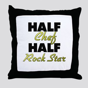 Half Chef Half Rock Star Throw Pillow