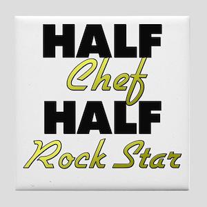 Half Chef Half Rock Star Tile Coaster