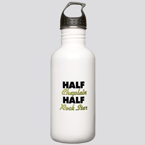 Half Chaplain Half Rock Star Water Bottle