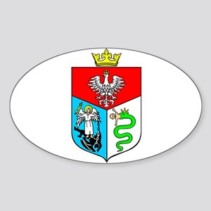 Sanok Crest Oval Sticker