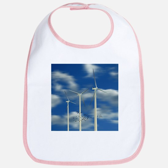 Wind Turbine Blue Clouds Bib