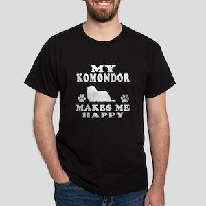 My Komondor makes me happy Dark T-Shirt