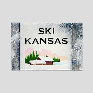 Top Ski Kansas Rectangle Magnet Magnets