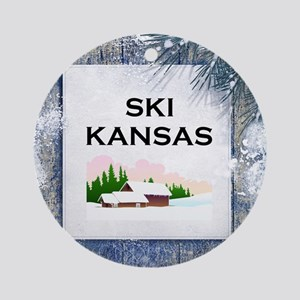 Top Ski Kansas Ornament (round)