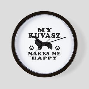 My Kuvasz makes me happy Wall Clock