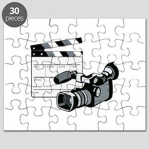 Video Camera Movie Clapboard Retro Puzzle