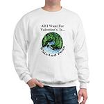 Valentine's Whirled Peas Sweatshirt