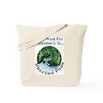 Valentine's Whirled Peas Tote Bag