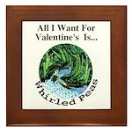 Valentine's Whirled Peas Framed Tile