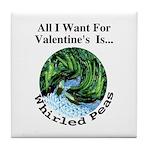 Valentine's Whirled Peas Tile Coaster