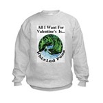 Valentine's Whirled Peas Kids Sweatshirt