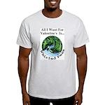 Valentine's Whirled Peas Ash Grey T-Shirt