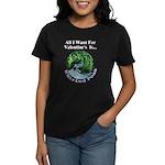 Valentine's Whirled Peas Women's Dark T-Shirt