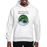 Valentine's Whirled Peas Hooded Sweatshirt
