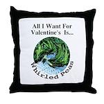 Valentine's Whirled Peas Throw Pillow