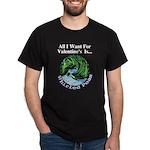 Valentine's Whirled Peas Dark T-Shirt