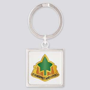 DUI - 4th Infantry Division Square Keychain