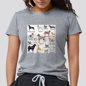 Dog Types Womens Tri-blend T-Shirt