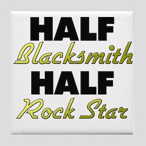 Half Blacksmith Half Rock Star Tile Coaster