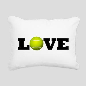 Tennis Love Rectangular Canvas Pillow