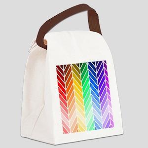 Rainbow Ombre Chevron Canvas Lunch Bag