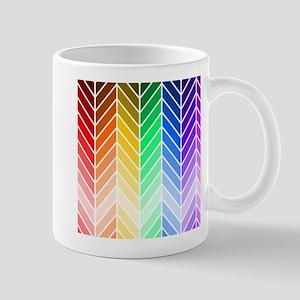 Rainbow Ombre Chevron Mugs