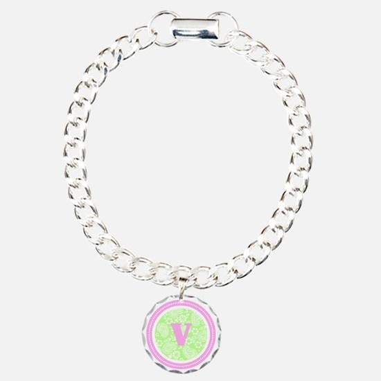 Lime Paisley Monogram-V Bracelet