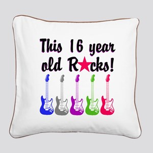 ROCKIN 16 YR OLD Square Canvas Pillow