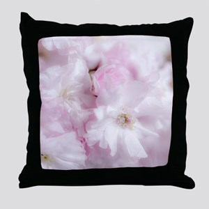 Delicatel Pink Blossom Flower Throw Pillow
