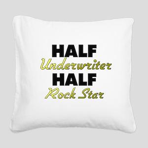 Half Underwriter Half Rock Star Square Canvas Pill