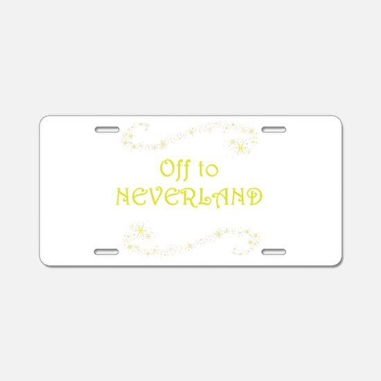 Off to Neverland Aluminum License Plate