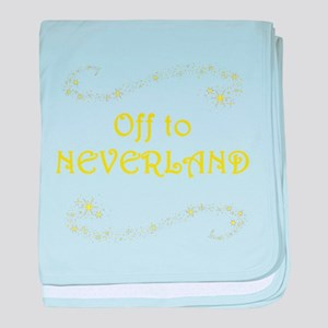 Off to Neverland baby blanket
