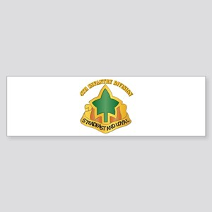 DUI - 4th Infantry Division with tetx Sticker (Bum