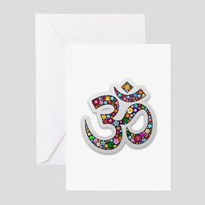 Om Aum Namaste Yoga Symbol Greeting Cards