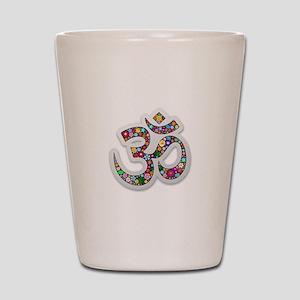 Om Aum Namaste Yoga Symbol Shot Glass
