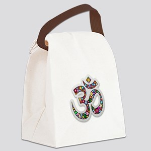 Om Aum Namaste Yoga Symbol Canvas Lunch Bag