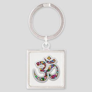 Om Aum Namaste Yoga Symbol Keychains