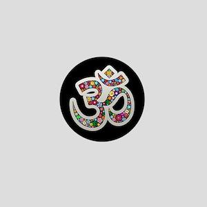 Om Aum Namaste Yoga Symbol Mini Button