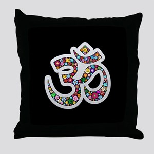 Om Aum Namaste Yoga Symbol Throw Pillow
