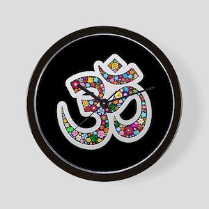 Om Aum Namaste Yoga Symbol Wall Clock
