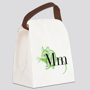 M is for Mouse Canvas Lunch Bag