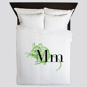 M is for Mouse Queen Duvet