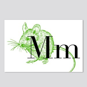 M is for Mouse Postcards (Package of 8)