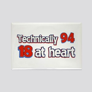 94 year old birthday designs Rectangle Magnet