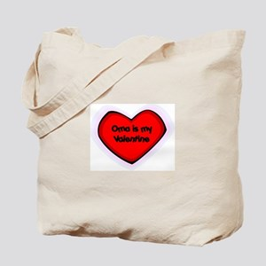 Oma is My Valentine Tote Bag