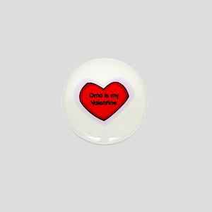 Oma is My Valentine Mini Button