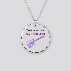 16TH ROCK STAR Necklace Circle Charm