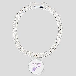 16TH ROCK STAR Charm Bracelet, One Charm